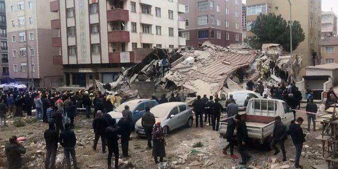 İstanbul Kartal'da 8 katlı bina çöktü